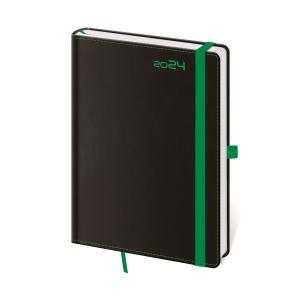 Diár BLACK GREEN denný A5 14,3x20,5cm 2020
