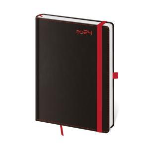 Diár BLACK RED týždenný A5 14,3x20,5cm 2020