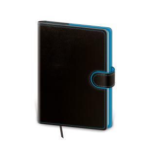 Diár Flip denný 14,3x20,5cm čierno/modrý 2021
