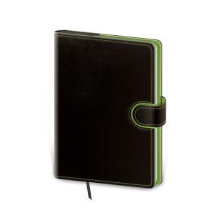 Diár Flip denný 14,3x20,5cm čierno/zelený 2021