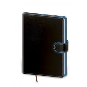 Diár Flip týždenný A5 14,3x20,5cm - čierno/modrý 2021