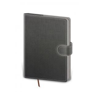 Diár Flip týždenný A5 14,3x20,5cm - šedo/šedý 2021
