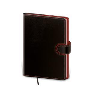 Diár Flip denný 12x16,5cm čierno/červený 2022