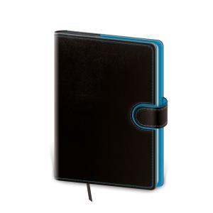 Diár Flip denný 12x16,5cm čierno/modrý 2022
