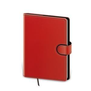 Diár Flip týždenný vreckový 9x14cm - červeno/čierny 2021