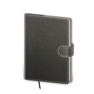 Diár Flip týždenný vreckový 9x14cm - šedo/šedý 2021