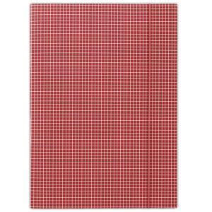 Kartónový obal s gumičkou DONAU červené káro