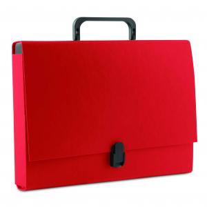 Aktovka kartónová s držadlom DONAU červená