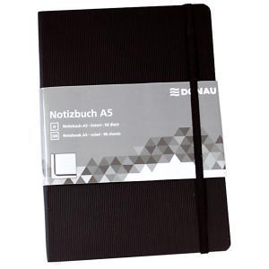 Zápisník Donau A5 čierny linajkový