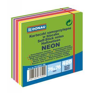 Bloček Donau 76x76mm 400l neónová zelená