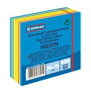 Bloček Donau 76x76mm 400l neónová modrá