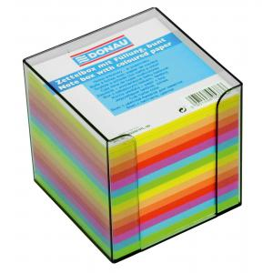 Blok kocka nelepená 90x90x90mm neónových farieb dymová škatuľka