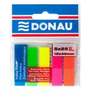 Samolepiace záložky Donau 12x45mm neon