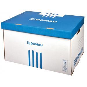 Archívna škatuľa so sklápacím vekom DONAU modrá