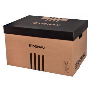 Archívna škatuľa s odnímateľným vekom DONAU hnedá