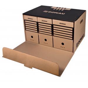 Archívna škatuľa s predným otváraním DONAU hnedá