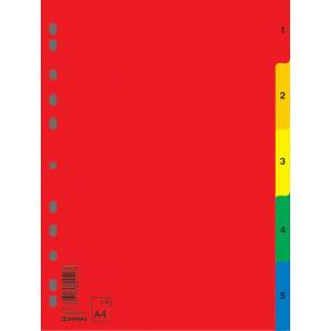 Plastový rozraďovač číselný farebný 1-5 (7708095PL-99)