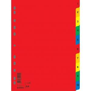 Plastový rozraďovač DONAU 1-10 farebný