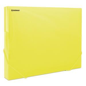 Plastový box s gumičkou DONAU priehľadný žltý