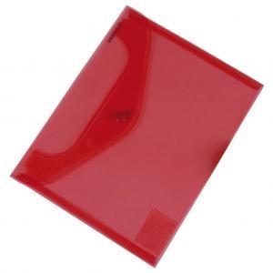 Plastový obal C5 s cvočkom DONAU červený