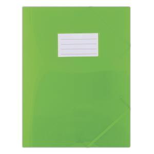 Plastový obal s gumičkou DONAU polopriehľadný zelený