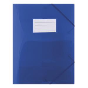 Plastový obal s gumičkou DONAU polopriehľadný modrý