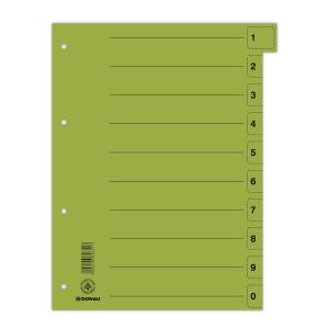 Kartónový rozraďovač odtrhávací zelený