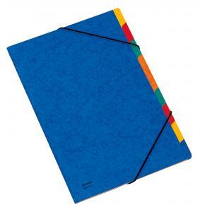 Triediace zložky DONAU modré 9 oddielov