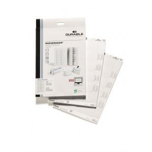 Náhradné papiere BADGEMAKER 40x75 mm biele