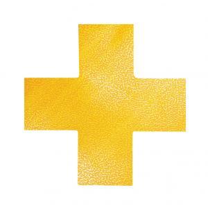 Podlahové značenie KRÍŽ žlté 10ks