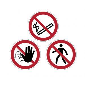 Zákazová značka na podlahu Zákaz fajčiť