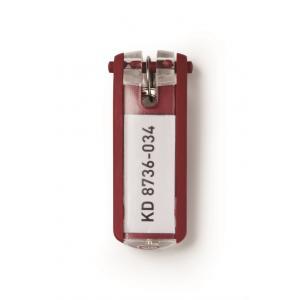Menovky na kľúče červené 6 ks
