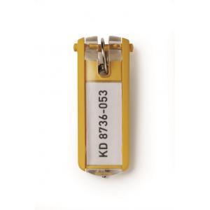 Menovky na kľúče žlté 6 ks