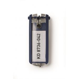 Menovky na kľúče DURABLE KEY CLIP modré 6ks