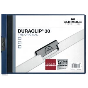 DURACLIP A4 na šírku modrý