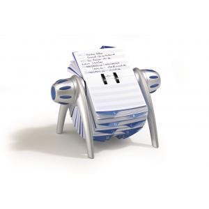 Rotačný záznamník TELINDEX Flip VEGAS striebný/modrý