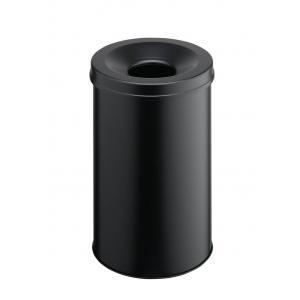 Kôš oceľový protipožiarny čierny 30 l
