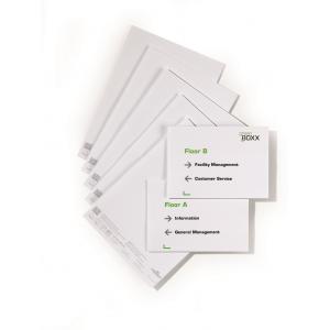 Náhradné kartičky pre Click Sign,Info Sign - 210x149 mm (A5)