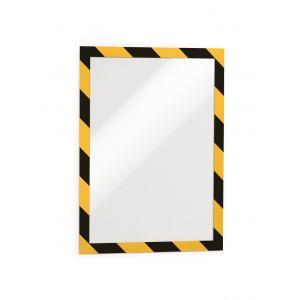 Samolepiaci Duraframe Security A4, žlto-čierny, bal.2 ks