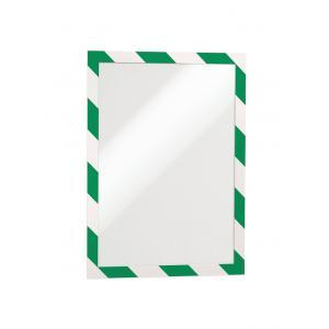 Samolepiaci Duraframe Security A4, zeleno-biely, bal.2 ks