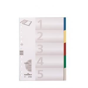 Plastový rozraďovač farebný 5-dielny