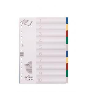 Plastový rozraďovač farebný 10dielny