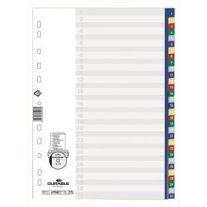 Plastový rozraďovač číselný farebný 1-31
