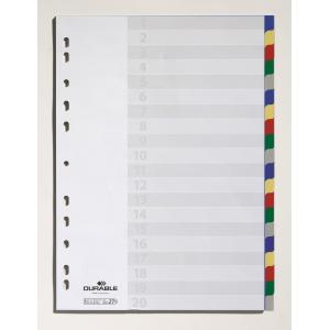 Plastový rozraďovač DURABLE 20-dielny farebný
