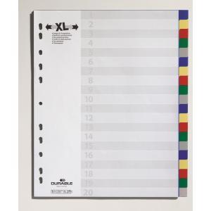 Plastový rozraďovač farebný 20dielny maxi