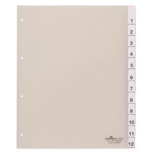 Plastový rozraďovač s výmennými indexami 12-dielny maxi