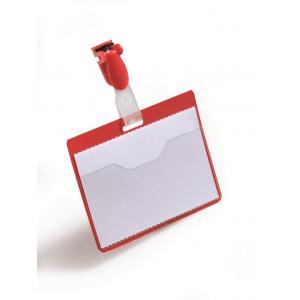 Visačka so štipcom horizontálna 90x60 mm 25 ks červená