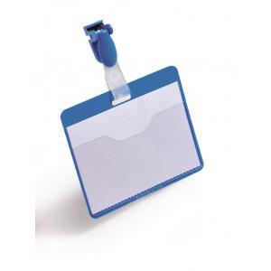 Visačka so štipcom horizontálna 90x60 mm 25 ks modrá