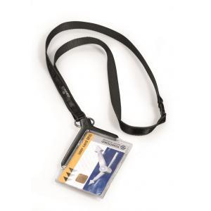 Visačka na plastovú kartu DE LUXE s remienkom