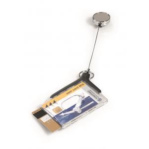 Visačka na 2 plastové karty DE LUXE DUO s výsuvným kotúčom